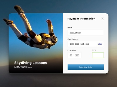 Day 004 - Credit Card Payment visa checkout commerce ecommerce minimal payment card credit day004 daily100