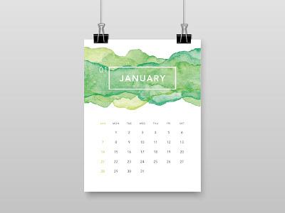 2018 Calendar 18 ui watercolor 2018 calendar