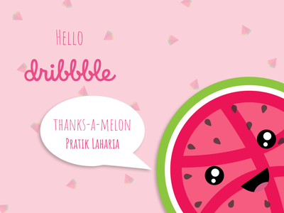 Thanks-a-melon! icon flat typography design illustration