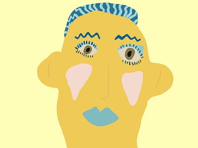 Yellow face creative original cute handmade cartoon logo colourful character design illustration