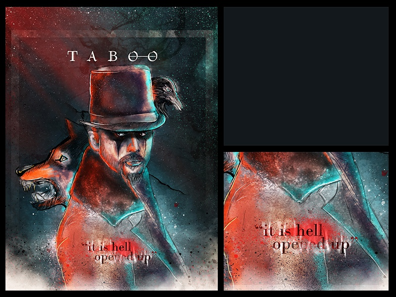 Taboo | james Keziah delaney digital paint photoshop tomhardy hbo season1 taboo