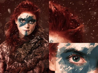Ygritte - Games of Thrones painted sketch digitally brushes adobephotoshop pencil colors artistic illustration design paint digital photoshop ygritte got