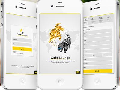 Gold Lounge App Design