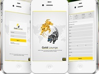 Gold Lounge App Design