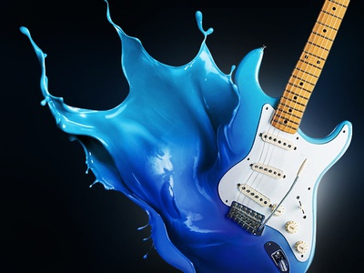 Fluid Object fluid guitar visual transformation