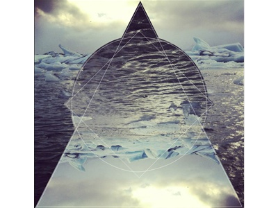 Iceland iceland logo visual photo triangle sky ice water