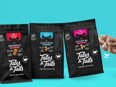Tales&Tails vector typography corporate design logo branding talestails dog black packaging design dog treats packaging package design packagedesign