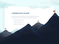 Growth section for LPL summit flag growth mountain webdesign website typography ux ui design brand illustration minimal