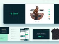 Drum.io Stylescape drum pattern app ui ux identity design brand minimal mark logo