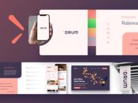 Drum.io Stylescape web identity ux ui 3d geometry illustration minimal mark logo