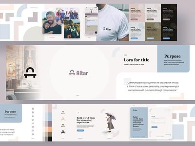 Altar Stylescape web typography branding identity design brand illustration mark logo minimal