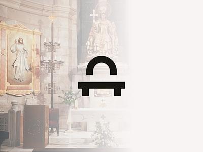 Logo design for Altar. vector typography branding identity design brand geometry mark logo minimal