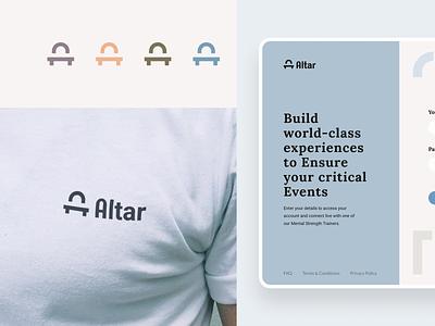 Altar Branding and Web design web ui identity icon design brand illustration mark logo minimal