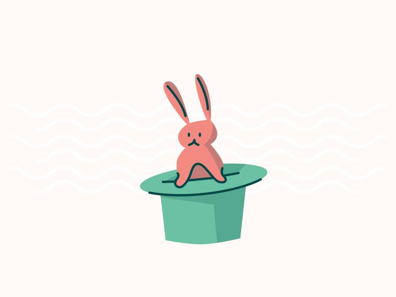 Trickster trick kayako magician hat rabbit magic