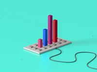 Graph on keyboard