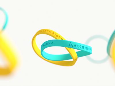Aeon Silicone wrist bands wristband silicon swag branding identity design brand icon minimal logo mark