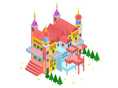 Isometric Design - Palace information information design isometric illustration isometric design isometric art isometry isometric fairy tale fairy castle palace architecture illustration vector graphics graphic design graphic design