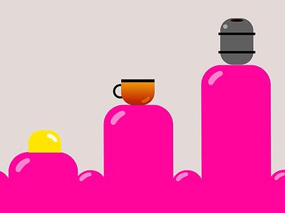 Informational Motion Animation - Coffee Fun Facts infographics infographic iconography icons icon design data visualization dataviz data viz motion animtation vector graphics vector illustration after effect illustrator graphic design information design information motion graphics animation