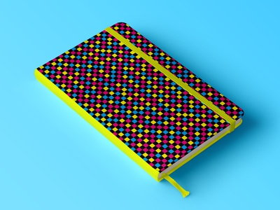 CMYK Checkerboard Pattern - Notebook