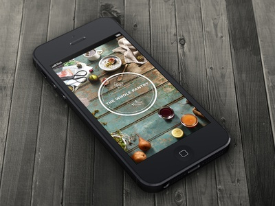 Loading Screen loading screen ui ux logo healthy lifestyle food app iphone wood leaf icons circle stamp