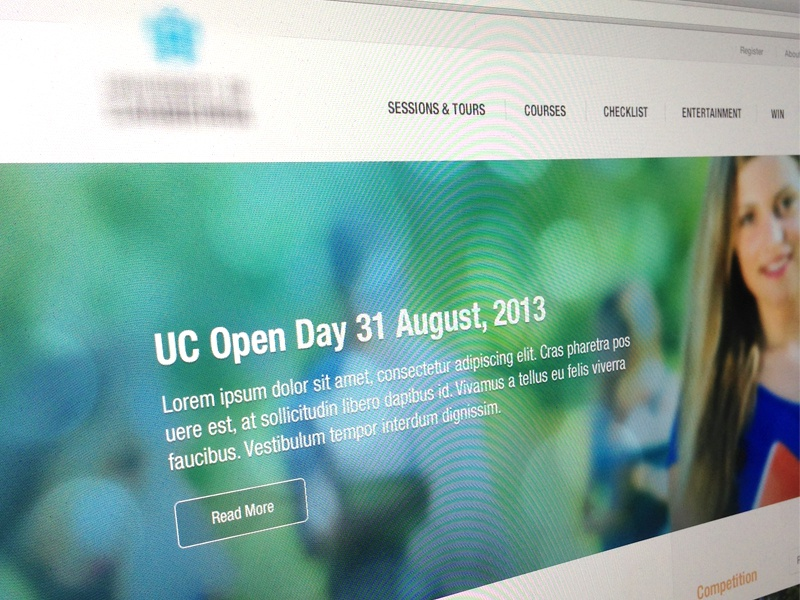 Web Concept web website ui ux flat modern simple clean blue button list home
