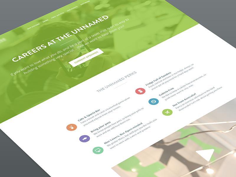 Careers Homepage web green header careers jobs website homepage