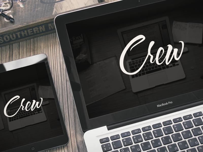 Introducing Crew  collective macbook logo ui web ux typography black
