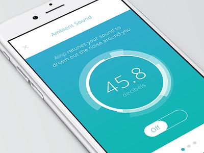 Ambient Sound sound app iphone gradient minimal clean decibels equalizer