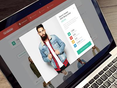 Product Lightbox product retail web dashboard stats statistics lightbox popup ui