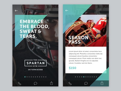 Business Template - Sport directory template iphone app ui ux sport fitness ios moible