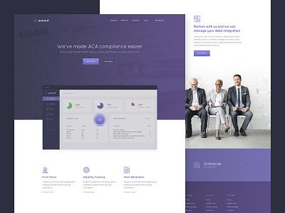 Accord Landing Page gradient team features app purple web website homepage landing