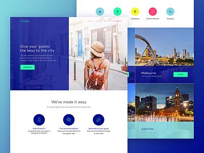 HopStay // Landing Page web city holiday travel landing website