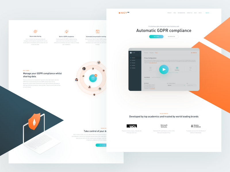 Hazy Landing ui ux web orange hazy homepage landing website