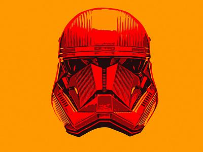 SITH TROOPER Helmet vector illustration star wars startup design photoshop trooper sithtrooper starwars