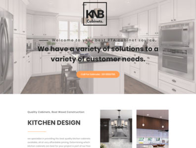 Kitchen and Bath Interior Landing Page Design using wordpress website design interior landing page interaction design landing page design landingpage