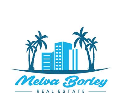 Melva Borley Real Estate Logo Design Project logo ideas florida logo house logo real estate logo logo design
