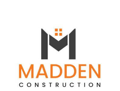 Madden construction logo project illustration concept m logo building logo construction designinggeeks construction logo madden construction madden construction