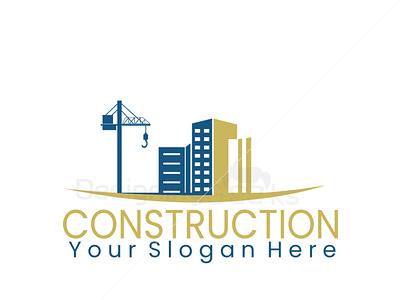 Construction Company Logo Design for sale construction logo houselogo realistic branding logo design realestatelogo logo