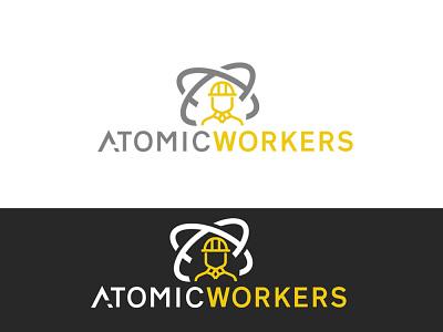 Atomic Workers Logo Design logo ideas logo construction logo houselogo logo design