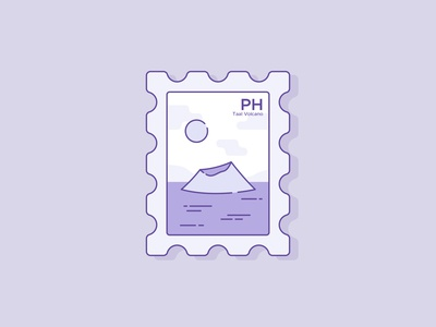 Taal Volcano Postage Stamp 🇵🇭