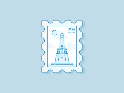 Rizal Park Postage Stamp 🇵🇭