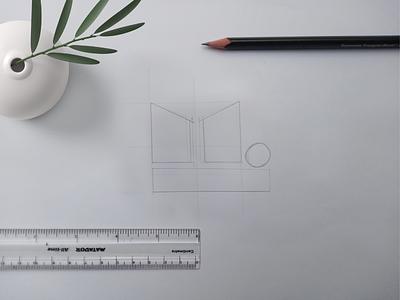 logo sketch presentation mockup flooring logo marketing logo marketing agency simple logovisual logodesign logosketch logotype sketches sketch graphic design flat typography type minimal logo design branding