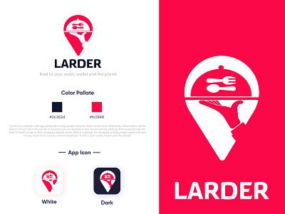 larder logo food logo food app brand design brand identity logodesign design branding design logo graphic design minimal branding