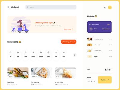 Dashboard - Food Delivery codepen css web design web ux ui product design platform menu illustraion graphics food ecommerce dish design delivery dashboard cart buy