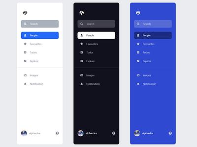 Sidebar Navigation minimal flat logo sidebar web ui codepen css app clean