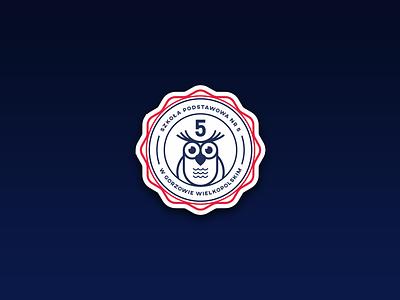 Elementary school logo grzegorz poland school owl logo elementary branding