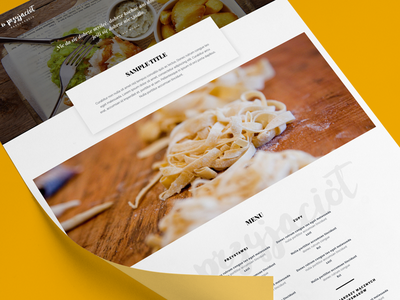 Restaurant  ux ui web responsive modern webdesign website
