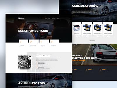 Auto electrical service ux ui web design auto car layout wordpress modern website