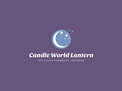 Candle World Lantern lantern stars simple flat modern moon candle poland design brand logo