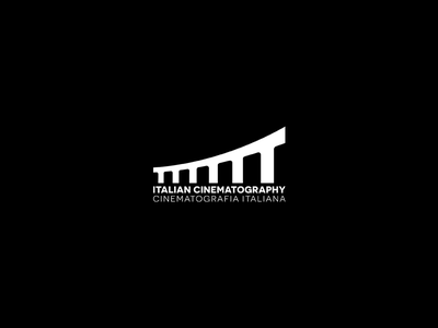 Italian Cinematography white black logotype italy brand modern design logo
